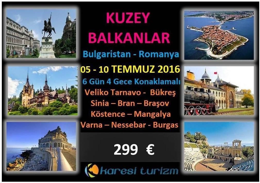 Bulgarista ve Romanya kültür gezisi.