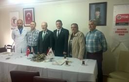 Altıeylül Belediye Başkanı Zekai KAFAOĞLU odamızı ziyaret etti.
